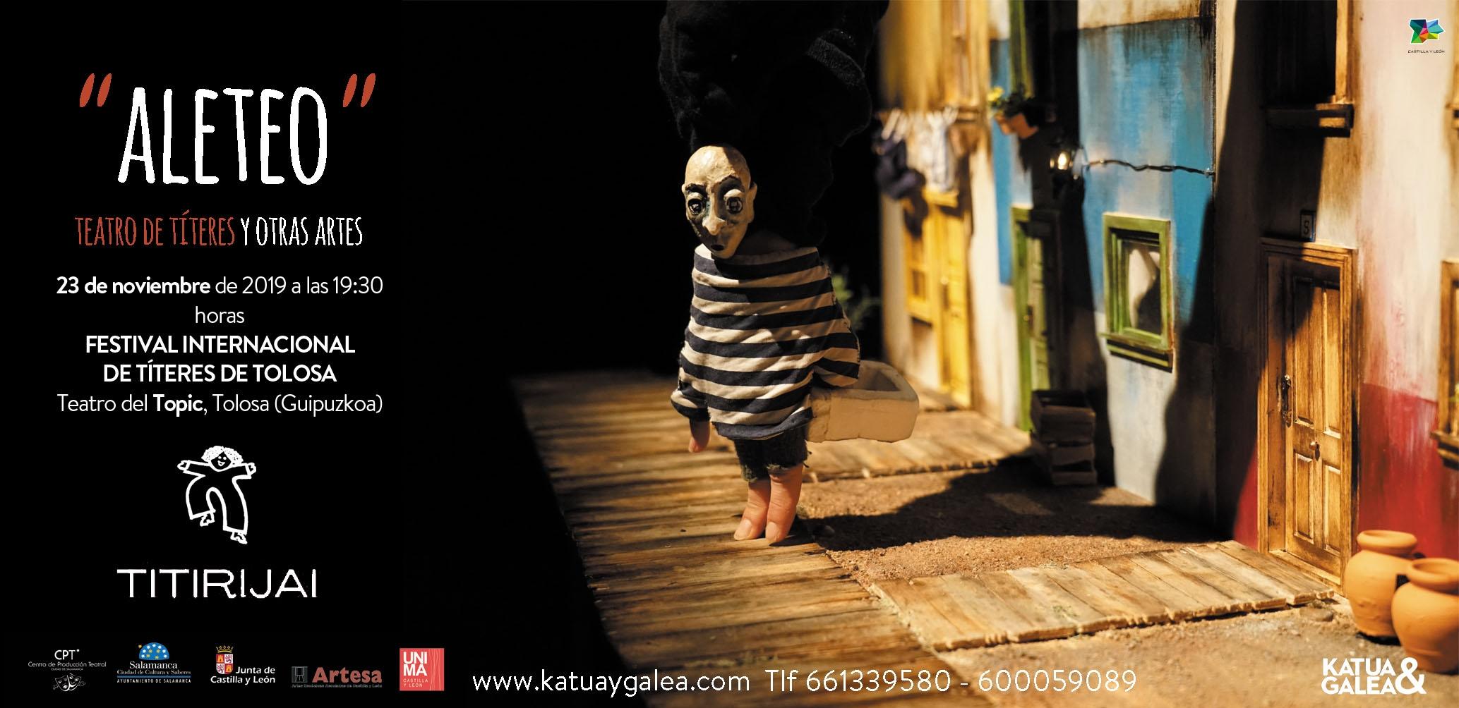 La compañía de teatro salmantina Katua & Galea, galardonada con el Premio Moretti de Teatro Infantil